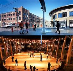 belmar, where we live. in the winter they set up an ice rink i cant waitt! Lakewood Colorado, Denver Colorado, United States Travel, Our Life, Beautiful Homes, The Neighbourhood, Places To Go, Ice Rink, Street View