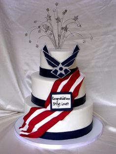 Air Force Retirement Cake by helipops on Cake Central