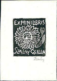 Szalay Csilla. (Romania) Ex-libris Bookplate QR1078