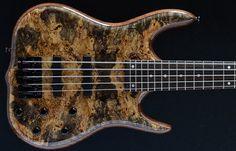 Ken Smith Bass Guitars, Hadrien Feraud, 5 string, Buckeye burl top, Walnut body, Sleek ELITE