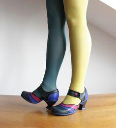 J Fluevog KKBB Sam Custom colored exclusively for Raspberry Heels http://www.raspberryheels.com/shop/produkt,en,all-new,kkbb-sam-teal-blue-pink.html