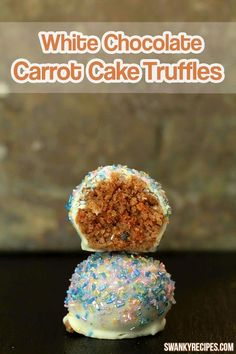 I'm excited today and not only because it is the weekend but because these white chocolate cream cheese carrot cake truffles are to die for! Now, I'm no
