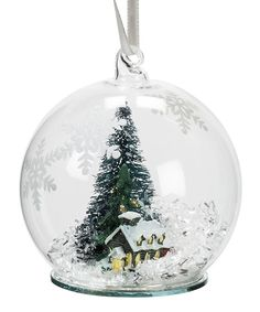 Loving this House & Tree Snow Globe Ornament on #zulily! #zulilyfinds