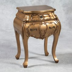 Antique Gold Bombay Bedside