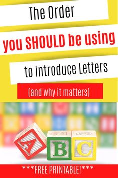 The Best Order to Introduce Letters and sounds - This Crafty Mom