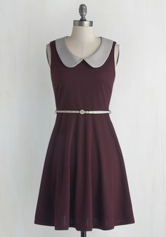 Work to Play Dress in Eggplant, @ModCloth I like the grey... The eggplant could be brighter.