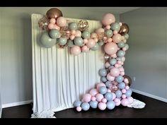 Well worth a watch Birthday Balloon Decorations, Diy Party Decorations, Birthday Balloons, How To Make Garland, How To Make Balloon, Baloon Garland, Party Garland, Gold Confetti Balloons, Balloon Arch