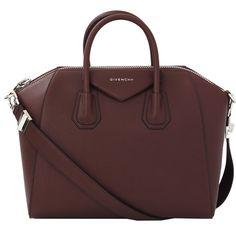 Givenchy Medium Antigona ($2,435) ❤ liked on Polyvore featuring bags, handbags, purses, bolsas, sacs, leather handbags, givenchy purse, leather handbag purse, red leather purse and red purse
