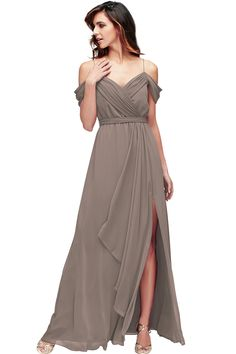 9b06e70447c Floor-Length Draped Sleeveless Spaghetti Chiffon Muti-Color Convertible  Bridesmaid Dress