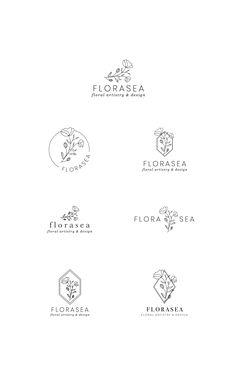 Flower Floral Illustration Flora Sea Ocean Bouquet Flowers Botanical Classic Romantic Branch Twig Leaves Trees Design Logos Premade Logo Illustration Digital Portefolio Inspiration Diseño Gráfico Viñetas Prefabricado Viñeta IIustración Dibujos Oso