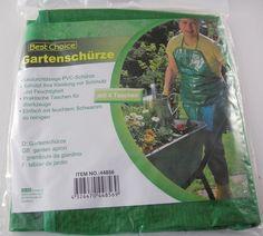44856* Garten-Schürze PVC,Tool-Tasche,grün