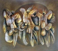 Music and Dance by Walter Battiss. Visit houseandleisure.co.za for more