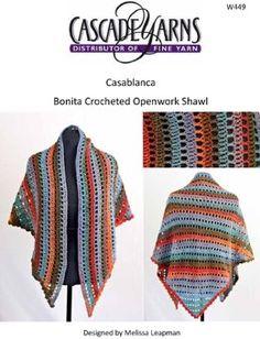 Bonita Openwork Shawl in Cascade Casablanca - W449
