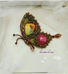 Beaded buttefly Beads embroidery