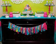 Owl Baby Shower  Girls Baby Shower  por LillianHopeDesigns en Etsy