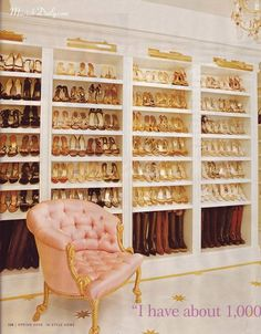 in an ideal world...i would not only own this many pairs of shoes, but would display them with uplighting to make all of my friends jealous