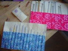 DIY knitting needle cases - made from felted blankets