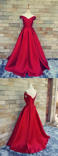 Off Shoulder Satin Prom Dress Evening Dresses A Line pst0043