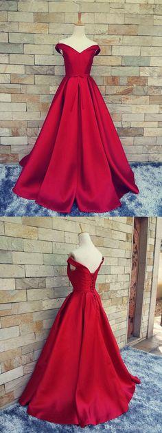 Off Shoulder Satin Prom Dress Evening Dresses A Line pst0043