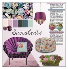 """""""Succulents: Echeveria Purple"""" by pat912 ❤ liked on Polyvore featuring interior, interiors, interior design, home, home decor, interior decorating, ESPRIT, Missoni Home, Jayson Home and Rizzy Home"""