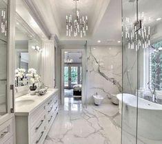 32 ultra modern master bathroom ideas to inspire your next renovation 13 – Luxury bathroom - Bathroom Ideas Beautiful Bedrooms Master, Bathroom Style, Bathroom Interior Design, Modern Master Bathroom, Master Bathroom Design, House Interior, Luxury Bathroom, Bathroom Decor, Beautiful Bathrooms