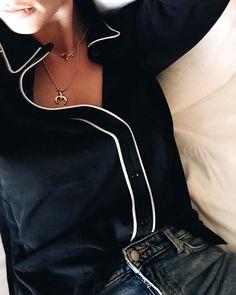 La chemise de pyjama, un top comme les autres