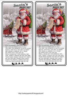 aok's paper stuff and more: Santa's Magic Key Tags