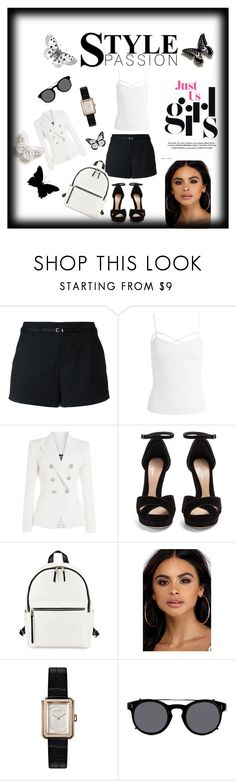 """""""Chic & stylish"""" by naya-dg ❤ liked on Polyvore featuring Loveless, Sans Souci, Balmain, Alexander McQueen, French Connection, Chanel and Valentino"""