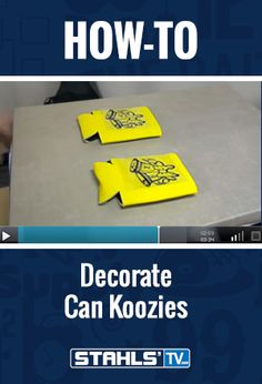 Neoprene or polyester can koozies are a great option for heat printing. STAHLS' TV Presenter, Josh Ellsworth demonstrates how quickly and easily you can apply any design to a standard koozie with a #heatpress. StahlsTV.com