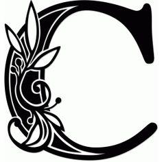 Silhouette Design Store - View Design #68633: vine monogram t