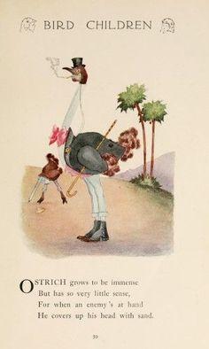 Bird Children 1912 Ostrich Poster Print by M.T. Ross (24 x 36)