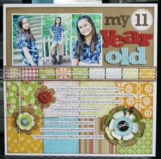 My 11 Year Old *Jillibean Soup* scrapbooking Birthday Scrapbook, Kids Scrapbook, Scrapbook Paper Crafts, Scrapbook Cards, Scrapbook Photos, Scrapbooking Ideas, Scrapbook Storage, Scrapbook Supplies, Scrapbook Sketches