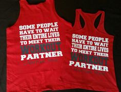 Couples Work Out Partners Gym Shirts, Workout Wifey, Workout ubby Couples Fitness Beauty and Beast Tank Tops, Couples Gym Shirts