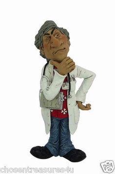 DOCTOR  statue occupation graduate WARREN STRATFORD  STETHOSCOPE AROUND NECK