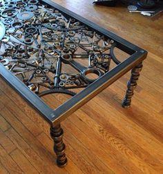 Table à café, métal table basse, table d