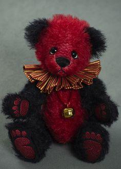 Merlot - about 10 inches - German mohair. #artistbear #artistbears #teddybear #spring #vickylougher Bear Cubs, Bears, Doll Costume, Costumes, Teddybear, Red Aesthetic, Inspiring Art, Ruby Red, German