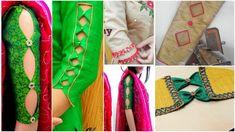 Latest and Designer Sleeve Designs cutting and stitching - Kurti Blouse Salwar Neck Designs, Half Saree Designs, Kurta Neck Design, Dress Neck Designs, Sleeve Designs, Blouse Designs, Kurti Sleeves Design, Sleeves Designs For Dresses, Gowns With Sleeves