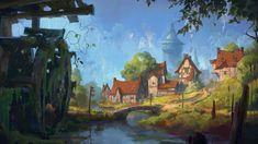 ArtStation - Summer Village, F.A. Herold