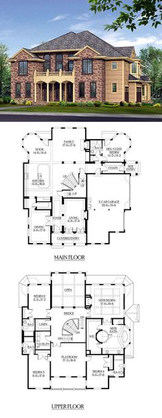 400 best large house plans images on Pinterest   House floor plans     Perfect family home with 4 to 5 bedrooms  5 bathrooms  a 3 car garage and a  playroom