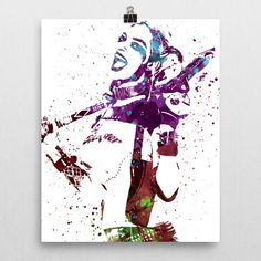Harley Quinn is a fictional character appearing in American comic books published by DC Comics, commonly as an adversary of the superhero Batman. The character is a frequent accomplice and lover of th  --Be your own Whyld Girl with a wicked tee today! http://whyldgirl.com/tshirts