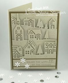 This week's Hand Stamped Sentiments Challenge was so much fun! All I saw was those wonderful houses from the Hearts Come Home Bundle! Come play with us this week! We'd love to see what it inspires