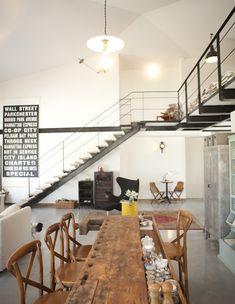 Industrial vintage house