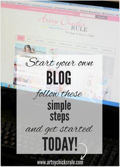 start your blog easy steps
