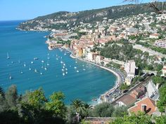 This is Villefranche. Next door over the ridge on the right (west) is Nice. The Odette was moored in the bay to the left (east) of the mole of the Darse which is top right. The bay is very deep and used to house the US 6th fleet and the Imperial Russian navy that had use of the port