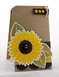 Splendid Sunflower; Sending Thanks; Splendid Sunflower Die-namics; Blueprints 6 Die-namics; Sentiment Strips 2 Die-namics - Cindy Lawrence