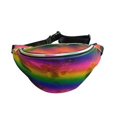 Amazon.com | Mily Silver Hologram Fanny Pack Laser Fanny Pack Perfect for Raves and Festivals Rainbow | Luggage & Travel Gear | @giftryapp