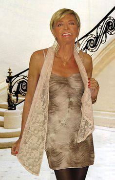 beige shiny short dress