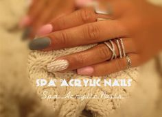 Acrylic nails -Sweater Effect,