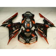 Honda CBR1000RR 2006-2007 Injection ABS Fairing - BACARDI - Orange/Black | $639.00