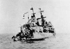 Town class 6 in light cruiser HMS Edinburgh, fatally damaged by two torpedo hits on opposing beams whilst escorting an Arctic convoy in May 1942, and then scuttled by a third 'friendly' torpedo: with her went 5 tons of Russian Gold destined for the US.